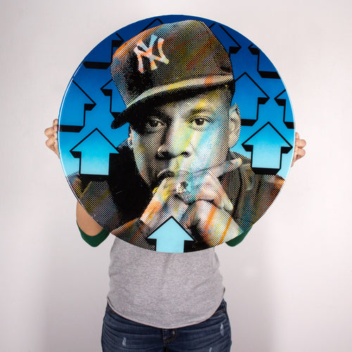 Cut The Record Jay Z - 2015 Above 1xRUN ORIGINAL 1/1 Laser Cut Wood Hova