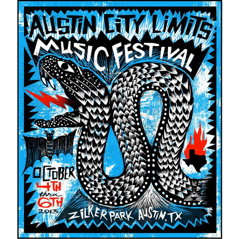 Austin City Limits Festival - 2013 Carlos Hernandez ACL poster print weekend 1