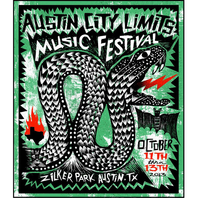Austin City Limits Festival - 2013 Carlos Hernandez ACL poster print weekend 2