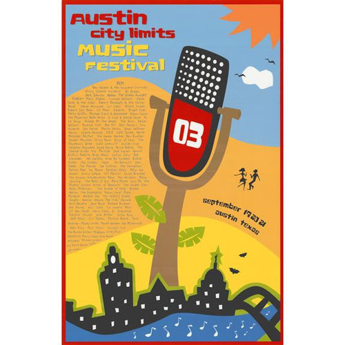 Austin City Limits Festival - 2003 David Mider ACL poster Texas