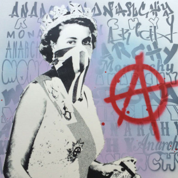 Anarchy: By Royal Decree - 2015 Static poster FRAMED street art graffiti