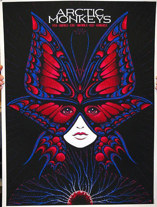 Arctic Monkeys - 2014 Todd Slater Poster Cedar Park, Grand Prairie & The Woodlan