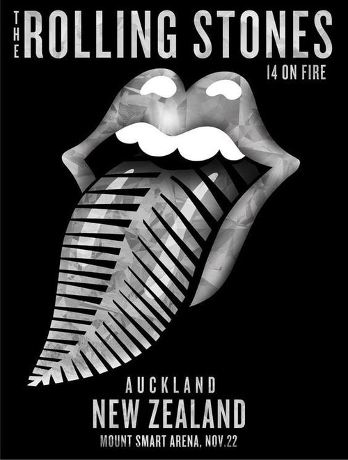 Rolling Stones - 2014 official poster Auckland, New Zealand #2