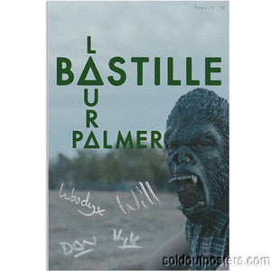 BASTILLE - 2013 Laura Palmer S/N Lithographic Print poster gurilla band signed