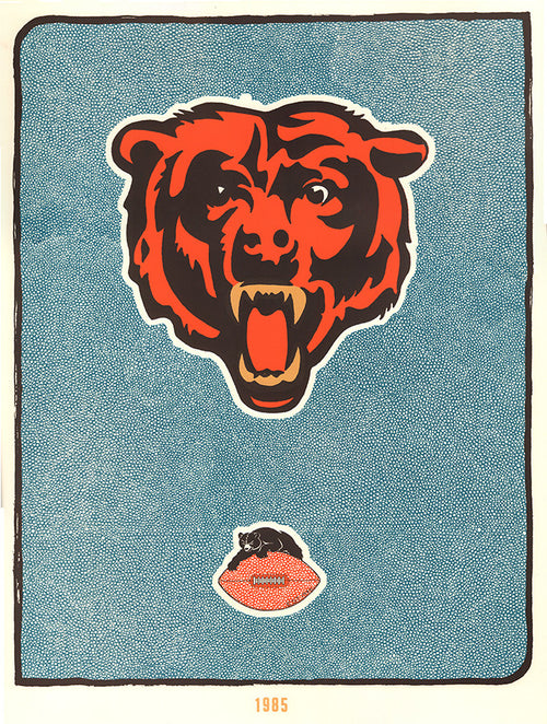 Chicago Bears - Fugscreens Studios poster Soldier Field 1985
