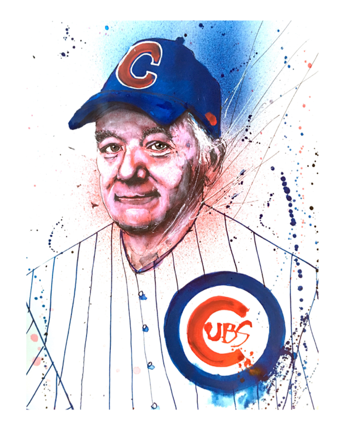 Dreams Come True - 2017 Joey Feldman poster Cubs Bill Murray