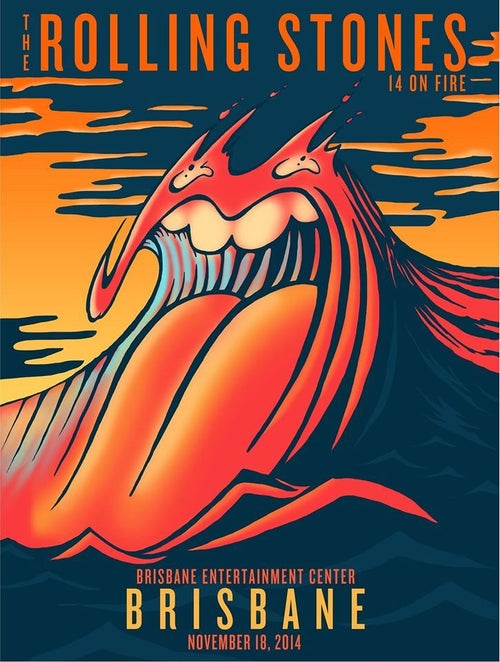 Rolling Stones - 2014 official poster Brisbane, Australia #1