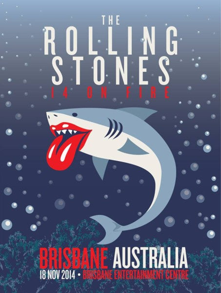 Rolling Stones - 2014 official poster Brisbane, Australia #2