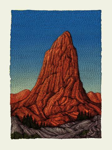 The Butte - 2019 David Welker poster, art print