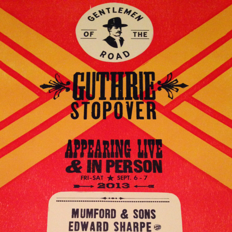 Mumford and & Sons - 2013 GOTR Hatch Show Print Gentlemen of the Road poster