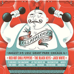 Lollapalooza - 2012 Delicious Design League Strong Man poster print Chicago
