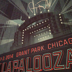 Lollapalooza - 2014 Tim Anderson poster print SIGNED & NUMBERED Perry Farrell
