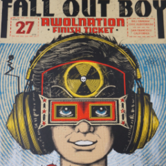Fall Out Boy - 2016 Zeb Love poster print Awolnation Bill Graham