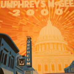 Umphrey's McGee - 2014 Kyle Baker Poster 11/7,11/8 Madison, WI Orpheum Theatre