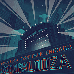 Lollapalooza - 2014 Tim Anderson poster NUMBERED edition