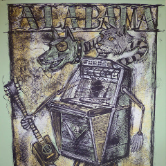 Alabama Shakes - 2012 Dan Grzeca Poster Chicago, IL Riviera Theatre FRAMED