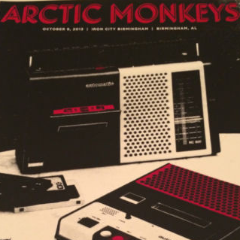 Arctic Monkeys - 2013 Third Alert Designs Poster Birmingham AL Iron City