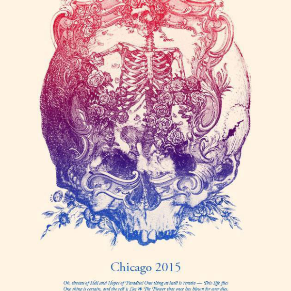 Grateful Dead - 2015 Kyle Baker poster Fare Thee Well Chicago, IL