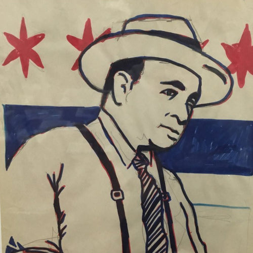 Al Capone - 2013 Jim Pollock OG original poster pencil and marker