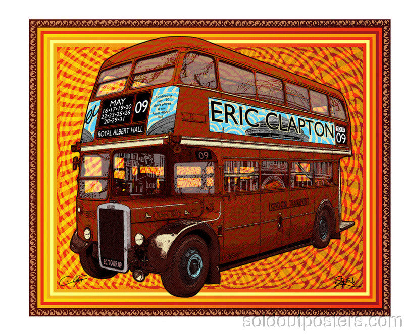 Eric Clapton - 2009 Chuck Sperry/Ron Donnovan Firehouse poster Royal Albert Hall