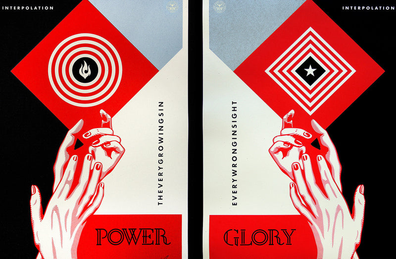 Interpolation - 2014 Shepard Fairey Diptych Poster power and glory
