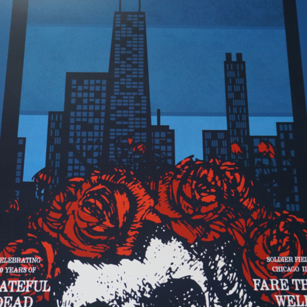 Fare Thee Well - 2015 Jimmy Bryant Grateful Dead poster print Chicago, IL
