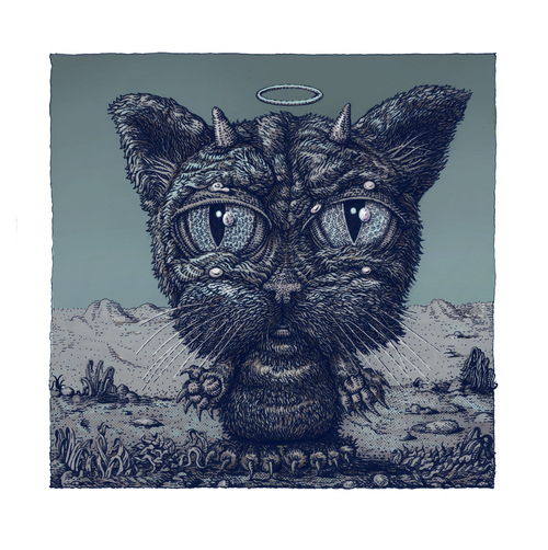 The Good Bad-Cat Variant - 2020 David Welker poster, art print with COA