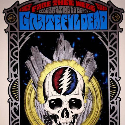 Grateful Dead - 2015 Alan Forbes Poster Chicago, IL Steal Your Face