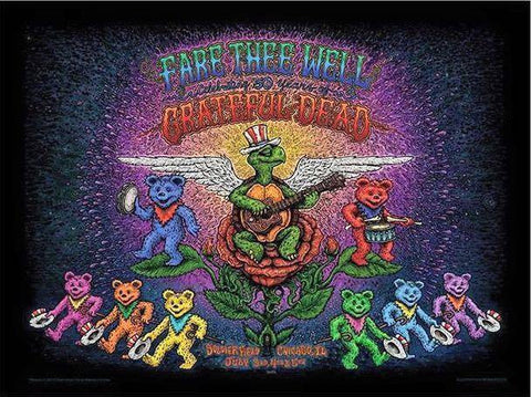 Grateful Dead - 2015 Marq Spusta Poster Chicago, IL