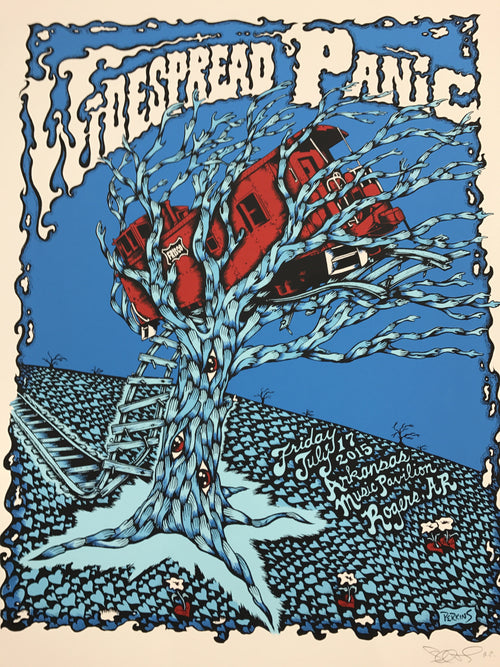 Widespread Panic - 2015 Billy Perkins poster AP Fayetteville, AR