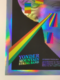 Yonder Mountain String Band - 2013 Johnny Sampson FOIL poster Summer Tour