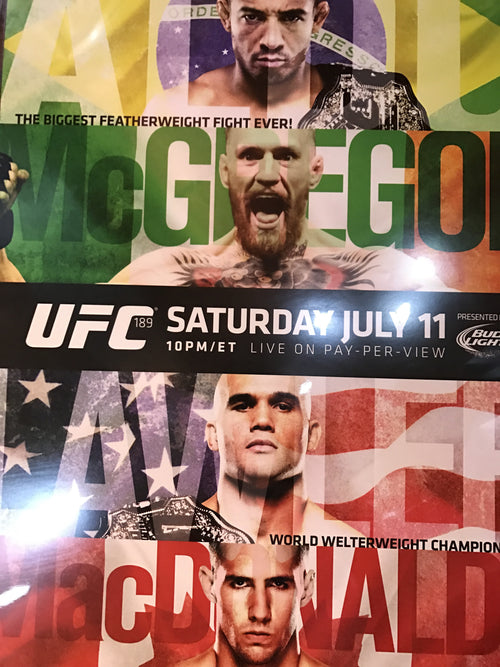 UFC 189 poster Conor McGregor vs. Aldo, Lawler vs. MacDonald