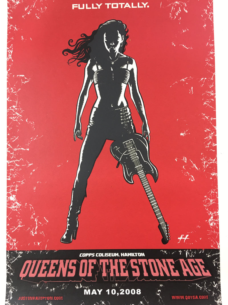Queens of the Stone Age - 2008 Justin Hampton Poster Hamilton, ON Copps Coliseum