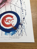 Dreams Come True - 2017 Joey Feldman poster Cubs Bill Murray Fly The W BLUE