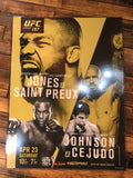 UFC 197 poster Jones vs. Saint Preux, Johnson vs. Cejudo MGM