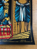 Pearl Jam - 2016 Mike Fudge poster Raleigh, NC CANCELLED PNC Arena