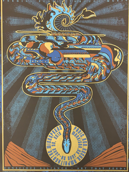 Widespread Panic - 2019 Michael Divine poster Red Rocks Morrison, CO