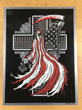 Cloak and Veil - 2009 Brad Klausen sheet metal not poster Pearl Jam reaper