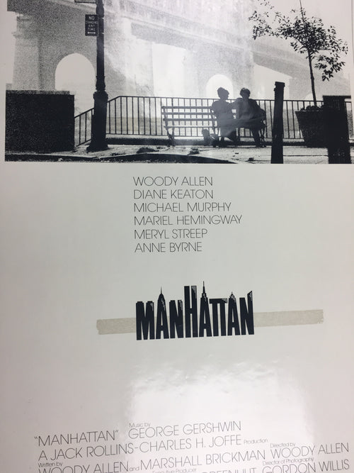 Manhattan - 1979 Cinema Poster, Movie Print, Original