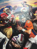NFL Football Every Game Every Sunday Ticket Poster, Broncos