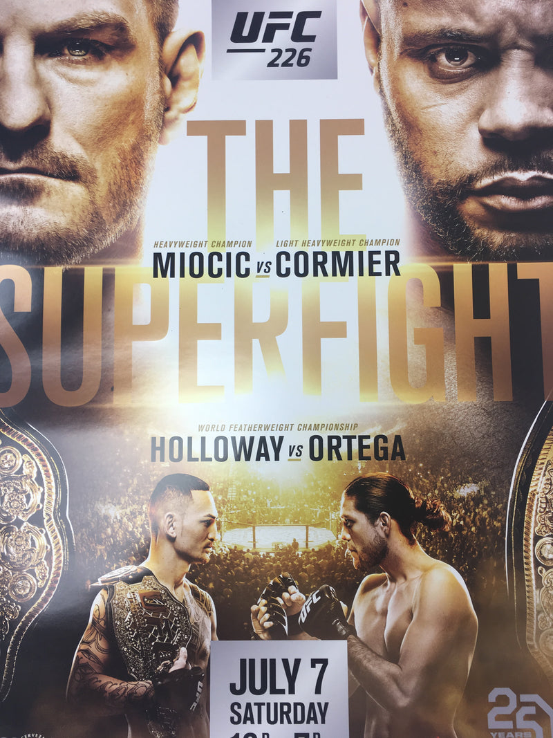 UFC 226 - 2018 Poster Miocic vs Cormier, Holloway vs Ortega