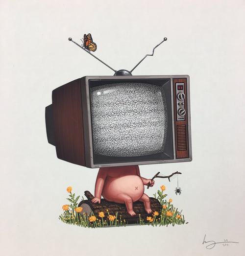 Mike - 2017 Mike Mitchell Art Print TV limited edition