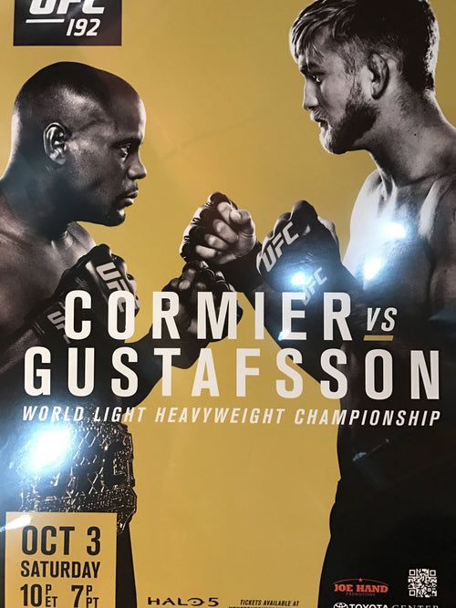UFC 192 poster Cormier vs. Gustafsson Toyota Center PPV