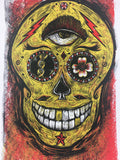 Sugarskull on Cream - Dan Grzeca Art Print Poster