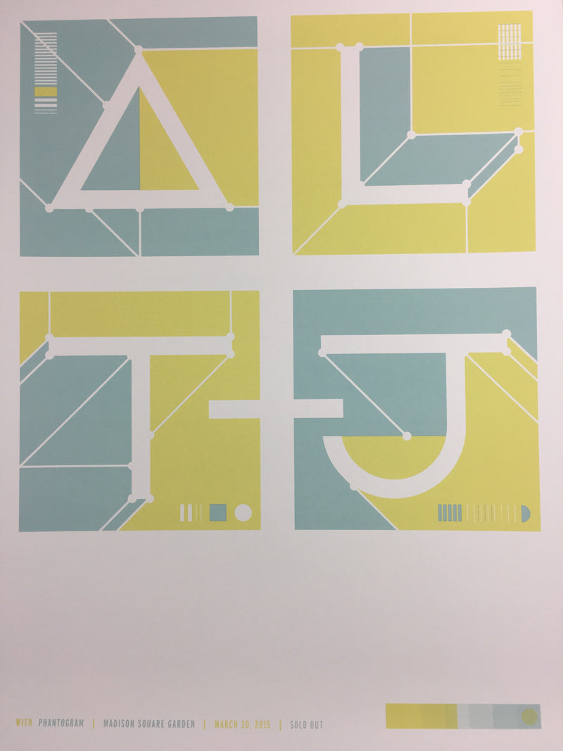 Alt-J 2015 poster New York, NY Madison Square Garden