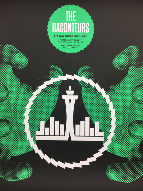 The Raconteurs - 2019 Draplin Design Co. poster Seattle, WA WaMu Theater