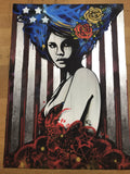 American Princess - 2016 Copyright poster Stars and Stripes graffiti art