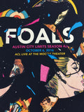 Foals - 2016 Andy Vastagh Poster Austin City Limits Moody Theater