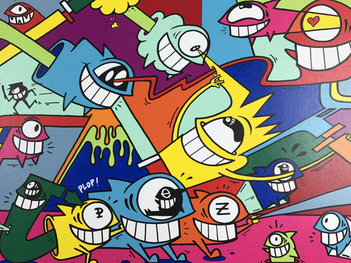 Smiling in Wynwood - 2016 Pez poster/print pop, street art, graffiti
