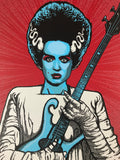 The Bride - 2016 Zoltron poster Spoke Art guitar screen print S/N